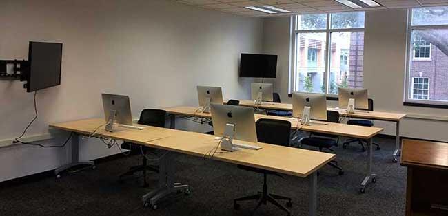Computer Room 201 of the Hector F. DeLuca Biochemistry Laboratories